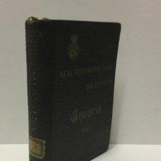 Coches: ANUARIO DEL REAL AUTOMOVIL CLUB DE ESPAÑA. 1915.. Lote 103712891