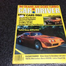 Coches: OCTOBER 1979 CAR AND DRIVER 1914 STUTZ BEARCAT LOTUS ESPRIT S2 NEW CARS 1980. Lote 103726679