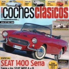 Coches: COCHES CLASICOS N. 154 - EN PORTADA: SEAT 1400 SERRA (NUEVA). Lote 194620372