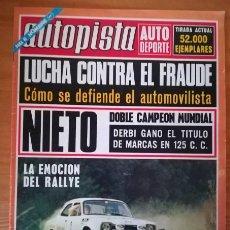 Coches: AUTOPISTA 712, 30 SEPTIEMBRE 1972. DERBI ANGEL NIETO, MERCEDES 280 350... CONTIENE POSTER: LAMPINEN-. Lote 105569795