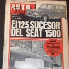 Coches: AUTO REVISTA SEMANARIO DEL MOTOR NUMERO 514 DE 1967 FIAT 125. Lote 105752799
