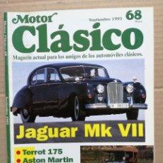 Coches: MOTOR CLÁSICO Nº 68. SEPTIEMBRE DE 1993. PRUEBA: JAGUAR MK VII. PRUEBA: TERROT 175.. Lote 105831259