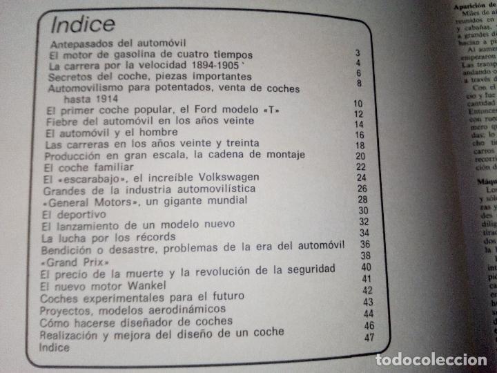Coches: LIBRO AUTOMOVILES-SANTILLANA-1º EDICION-1972-50 PAG - Foto 4 - 107195727