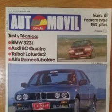 Coches: REVISTA AUTOMÓVIL NÚM 61 FEBRERO 1983. Lote 107604498