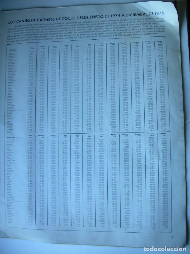 Coches: REVISTA CLUB, Nº 129, FEBRERO 1974. RACC, REAL AUTOMOVIL CLUB DE CATALUNYA. MATRICULAS - Foto 2 - 107733511