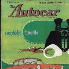 Coches: THE AUTOCAR .- MAGAZINE .- 14 NOVIEMBRE 1958 .- VOL 109 Nº 3282 .- TURIN SHOW REPORTAJE. Lote 107844363