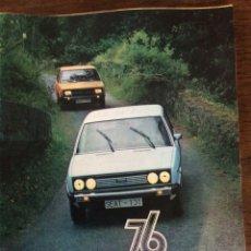 Coches: REVISTA SEAT N. 108 DE 1976 AUTOMÓVIL SEAT 131 FIAT 131. Lote 107881215