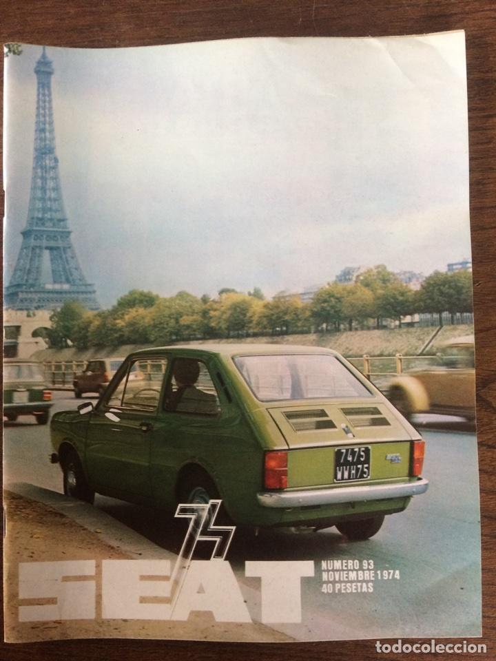 REVISTA SEAT N. 93 DE 1974 AUTOMÓVIL SEAT 127 COMERCIAL 133 (Coches y Motocicletas Antiguas y Clásicas - Revistas de Coches)