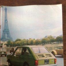 Coches: REVISTA SEAT N. 93 DE 1974 AUTOMÓVIL SEAT 127 COMERCIAL 133. Lote 107883104