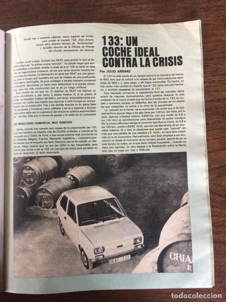 Coches: Revista Seat n. 93 de 1974 automóvil Seat 127 comercial 133 - Foto 4 - 107883104