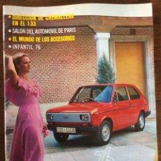 Coches: REVISTA SEAT N. 115 DE 1976 AUTOMÓVIL SEAT 133. Lote 107883290