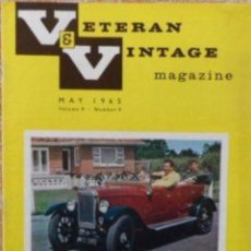 Coches: VETERAN AND VINTAGE MAGAZINE/ VOLUME 9/ NO. 9/ 1965/ PIONEER PUBLICATIONS/ MAY. Lote 108047791