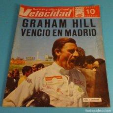 Coches: REVISTA VELOCIDAD 18/05/1968 Nº 349. GRAHAM HILL VENCIÓ EN MADRID. BULTACO PURSANG 250 CC. Lote 108061923