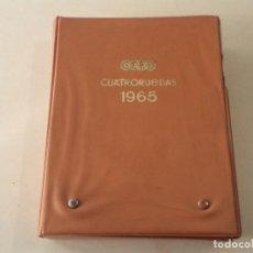 Coches: CUATRORUEDAS AÑO 1965 - Nº 13 AL 24 - COMPLETO CON ESTUCHE ORIGINAL. Lote 108065751