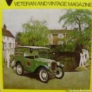 Coches: VETERAN AND VINTAGE MAGAZINE/ VOLUME 17/ NO. 2/ 1972/ PIONEER PUBLICATIONS/ OCT.. Lote 108072363