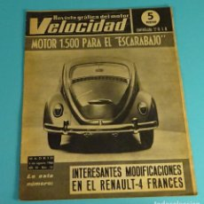 Coches: REVISTA VELOCIDAD Nº 256 DE 1966 - ESCARABAJO, RENAULT 4, SANGLAS 400, MOTOCROSS OLIANA. Lote 108123911