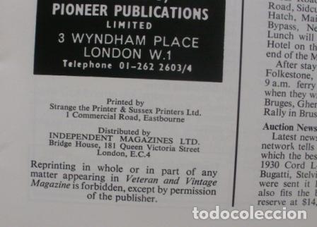 Coches: Veteran and Vintage Magazine/ Volume 17/ No. 5/ 1973/ Pioneer Publications/ Jan. - Foto 3 - 108126911