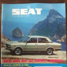 Coches: REVISTA SEAT N. 133 DE 1978. Lote 108244987