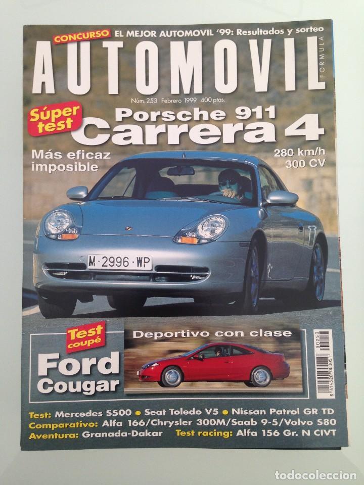 AUTOMOVIL 253,POSTER,PORSCHE 911 CARRERA 4,FORD COUGAR,SEAT TOLEDO  V5,NISSAN PATROL GR,ALFA 156