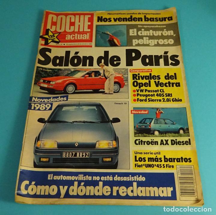 REVISTA COCHE ACTUAL Nº 35 1988. OPEL VECTRA. PASSAT. PEUGEOT 405. FORD SIERRA 2.0I GHIA (Coches y Motocicletas Antiguas y Clásicas - Revistas de Coches)
