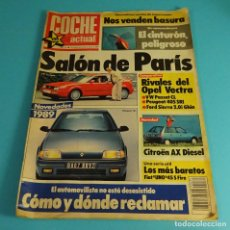 Coches: REVISTA COCHE ACTUAL Nº 35 1988. OPEL VECTRA. PASSAT. PEUGEOT 405. FORD SIERRA 2.0I GHIA. Lote 110365707
