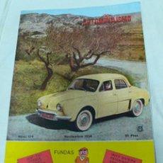Coches: REVISTA EL AUTOMOVILISMO EN ESPAÑA Nº 179 NOVIEMBRE 1958. Lote 110739839