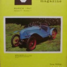 Coches: VETERAN AND VINTAGE MAGAZINE/ VOLUME 11/ NO. 7/ 1967/ PIONEER PUBLICATIONS/MARCH. Lote 111452191