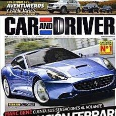 Coches: CAR AND DRIVER Nº 159 FERRARI CALIFORNIA. Lote 111500199