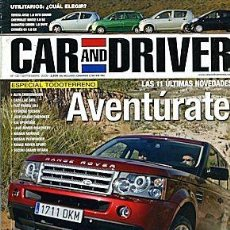 Coches: CAR AND DRIVER Nº 120 ESPECIAL 4X4. Lote 111500663