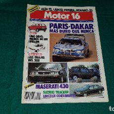 Coches: MOTOR 16 Nº 221 (1988). Lote 112431759