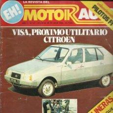 REVISTA MOTOR AUTO, NUM. 41 DE JULIO DE 1978. VISA, PROXIMO UTILITARIO CITROEN, SEAT GANA RALLY PO