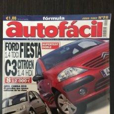 Coches: AUTOFÁCIL Nº 20 JUNIO 2002, FORD FIESTA 1.4 TDCI, C3 CITROËN 1.4 HDI. Lote 113180323