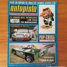 Coches: AUTOPISTA 816, 28 SEPTIEMBRE 1974. BARQUETA TORRALBA-IRESA, LEYLAND LIFELINER, AUSTIN ALLEGRO 1300... Lote 113313727