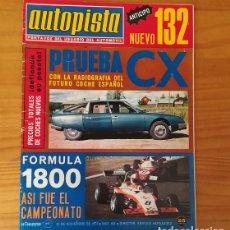 Coches: AUTOPISTA 824, 23 NOVIEMBRE 1974. SEAT 132, CITROEN CX-2000, ESTANISLAO REVERTER... INCLUYE POSTER F. Lote 113313935
