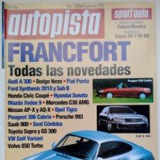 Coches: REVISTA AUTOPISTA Nº 1782 - FOTO SUMARIO - SUBARU IMPREZA 1.8 4WD - AUDI 100 2.6 E - VOLVO 850 GLE. Lote 114280347