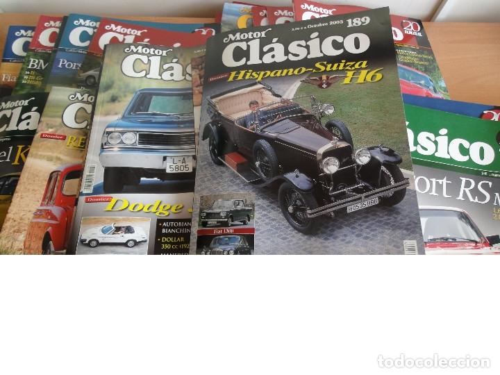 REVISTA MOTOR CLASICO. LOTE 13 NUMEROS O SUELTOS (1999 AL 2011) LEER (Coches y Motocicletas Antiguas y Clásicas - Revistas de Coches)