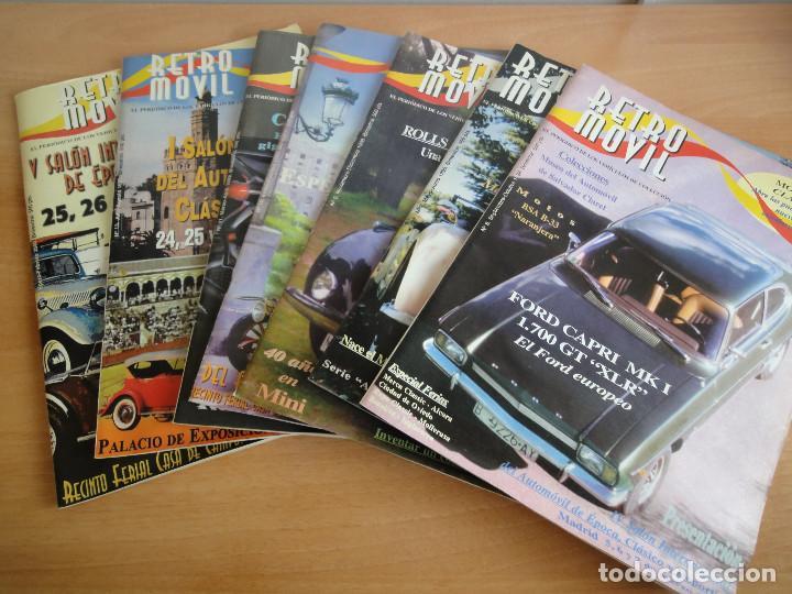 PERIODICO RETROMOVIL. LOTE 7 NUMEROS O SUELTOS (1998-2000) LEER (Coches y Motocicletas Antiguas y Clásicas - Revistas de Coches)