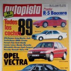 Coches: REVISTA AUTOPISTA Nº 1519- FOTO SUMARIO - RENAULT 5 BACCARA - VOLVO 760 GLE - SAAB 9000 CD. Lote 114487559