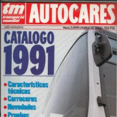 Coches: CATALOGO TRANSPORTE MUNDIAL AUTOCARES Nº 1 AÑO 1991. Lote 115918355