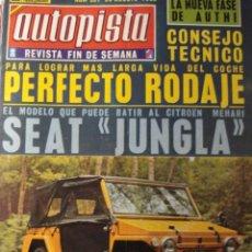 Coches: REVISTA AUTOPISTA 551 SEAT 600 JUNGLA - REPORTAJE FABRICA AUTHI. Lote 116232403