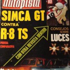 Coches: REVISTA AUTOPISTA 615 SIMCA GT VS. RENAULT 8 TS. Lote 148526574