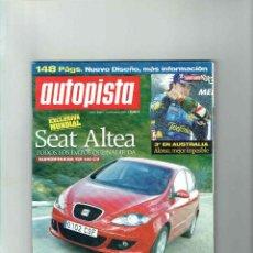 Coches: REVISTA AUTOPISTA Nº 2330- SEAT ALTEA 2.0 TDI. Lote 116286671
