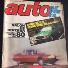Carros: REVISTA AUTOREVISTA AUTO NUMERO 1178 DE 1980 RENAULT FUEGO. Lote 116454579