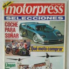 Coches: MOTORPRESS SELECCIONES N° 15 JULIO 1991. Lote 117132766