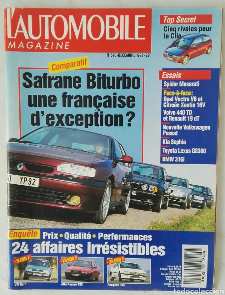 L'AUTOMOBILE MAGAZINE DECEMBRE 1993 SAFRANE SPIDER MASERATI (Coches y Motocicletas Antiguas y Clásicas - Revistas de Coches)
