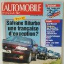 Coches: L'AUTOMOBILE MAGAZINE DECEMBRE 1993 SAFRANE SPIDER MASERATI. Lote 117170586