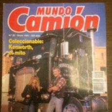 Coches: REVISTA MUNDO CAMIÓN N. 20 DE 1991 KENWORTH RENAULT PARIS DAKAR. Lote 136736292