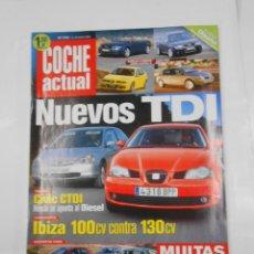 Coches: REVISTA COCHE ACTUAL Nº 722. DEL 14 AL 20 FEBRERO 2002. NUEVOS TDI. CIVIC CTDI. TDKR52. Lote 117358579