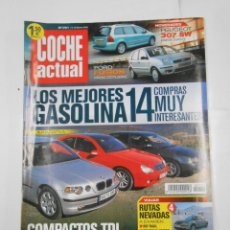 Coches: REVISTA COCHE ACTUAL Nº 721. DEL 7 AL 13 FEBRERO 2002. LOS MEJORES GASOLINA. COMPACTOS TDI. TDKR52. Lote 117358675