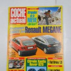 Coches: REVISTA COCHE ACTUAL Nº 408. DEL 12 AL 18 FEBRERO 1996. RENAULT MEGANE. TDKR52. Lote 117359691